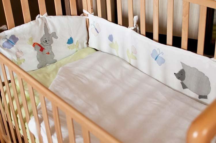 мягкие бортики детской кроватки