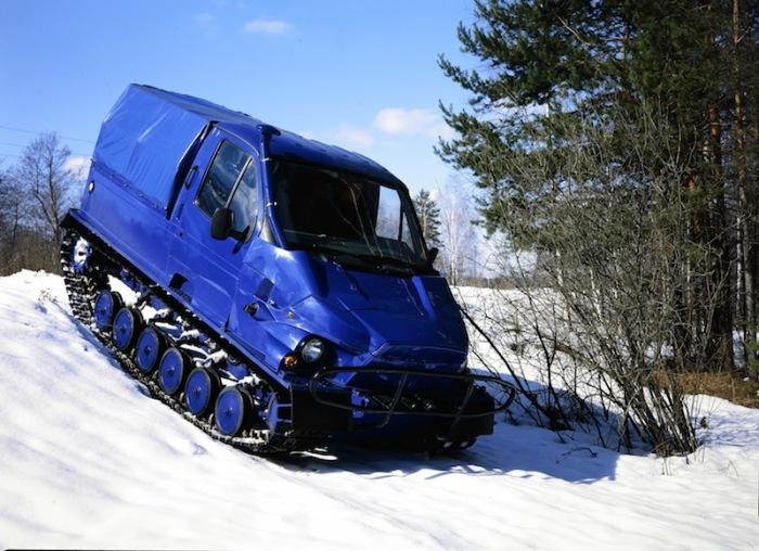 «Бобр» прекрасно себя чувствует на снегу. Производитель, Заволжский завод гусеничных тягачей (ЗЗГТ),