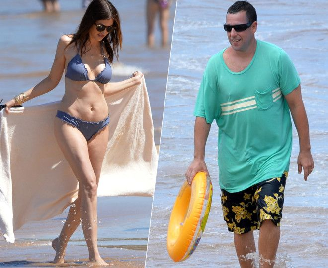 Джеки Сэндлер в отличие от своего знаменитого супруга делает все возможное, чтобы оставаться в форме