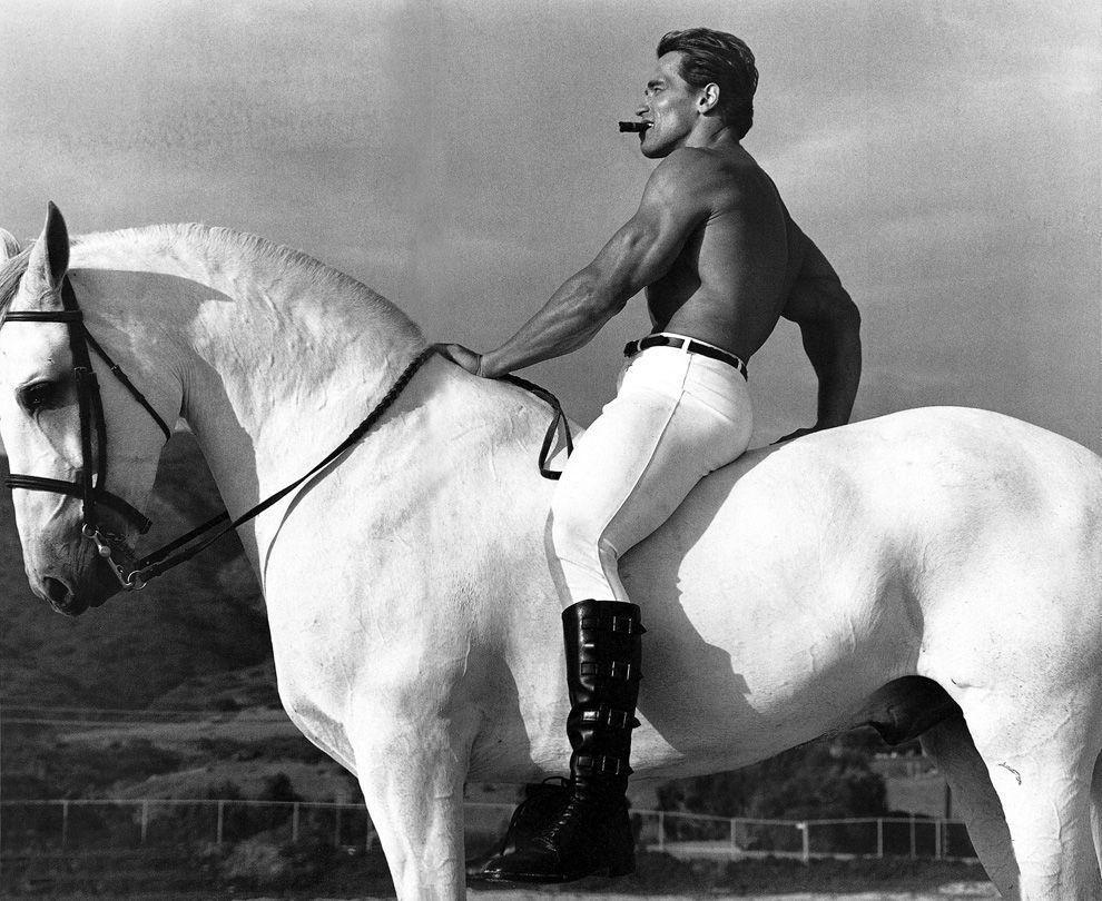 2. Будущий 38-й губернатор Калифорнии Арнольд Шварценеггер, 1975 год.