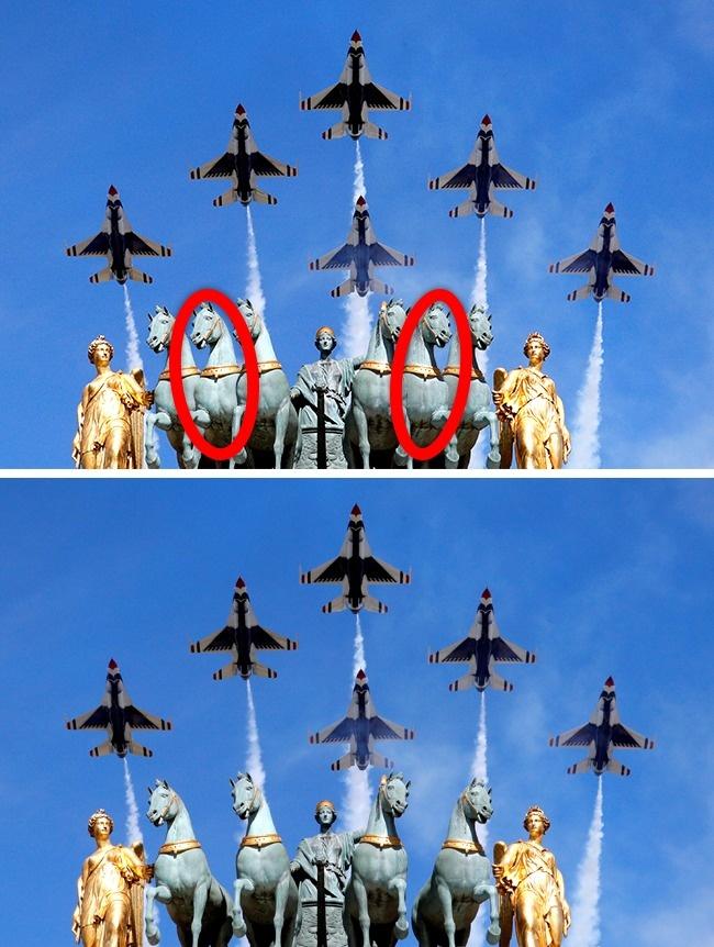 © reuters  Перед вами верхняя часть Триумфальной арки наплощади Каррузель вПариже. Намонуме