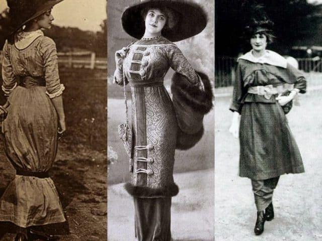 Начало 20-го века запомнилось тем, что в моду вошли узкие юбки. Этот элемент гардероба был длиной по