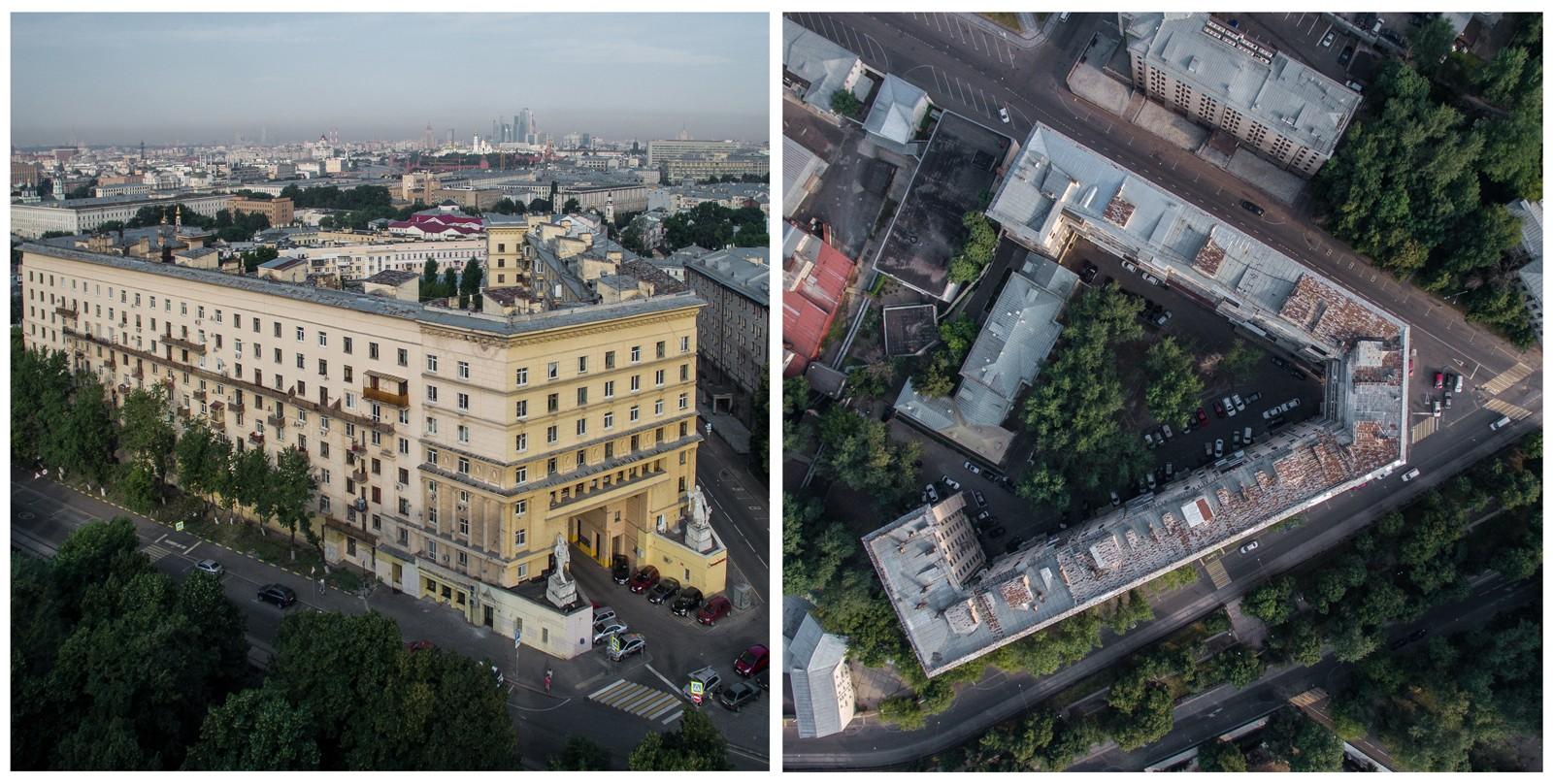В 1934-1941 годах здание построили для переведенного из Ленинграда в Москву инженерного факультета В