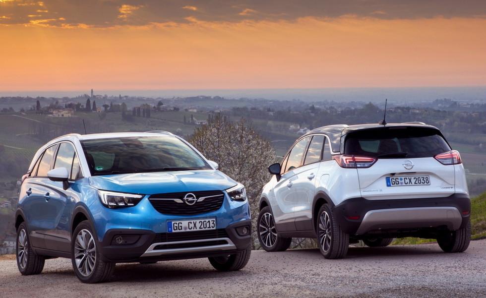 Opel Crossland X    Crossland X получил весьма экономный 1,2-литровый двигатель, работающий на