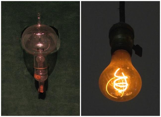 © Terren/Wikipedia Commons  © LPS.1/Wikipedia Commons     Первая лампа накаливания