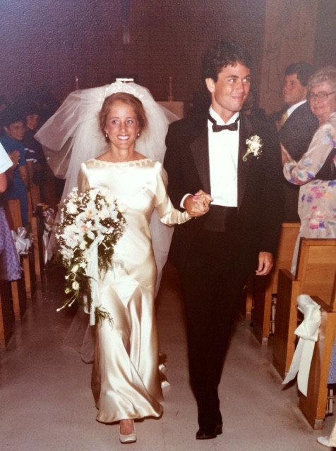 Свадьба Марты и Кевина О'Хара в 1983 году.    В 1997 году сестра Марты, Элена, вышла замуж в то