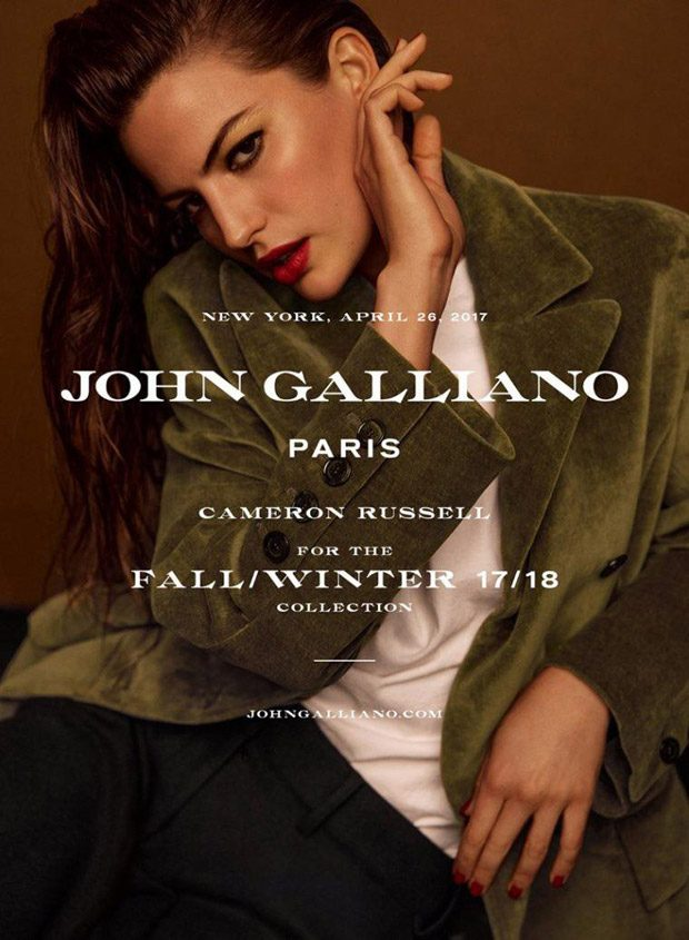 Cameron Russell is the Face of John Galliano Fall Winter 2017 Collection (1 pics)