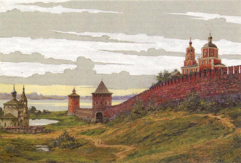 Местность у Яузских ворот Белого города в начале 18 века. В.А. Рябов. 2006 год