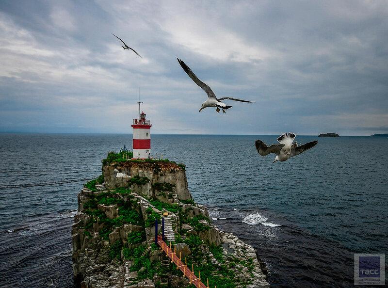 Прибрали маяк на полуострове Басаргина