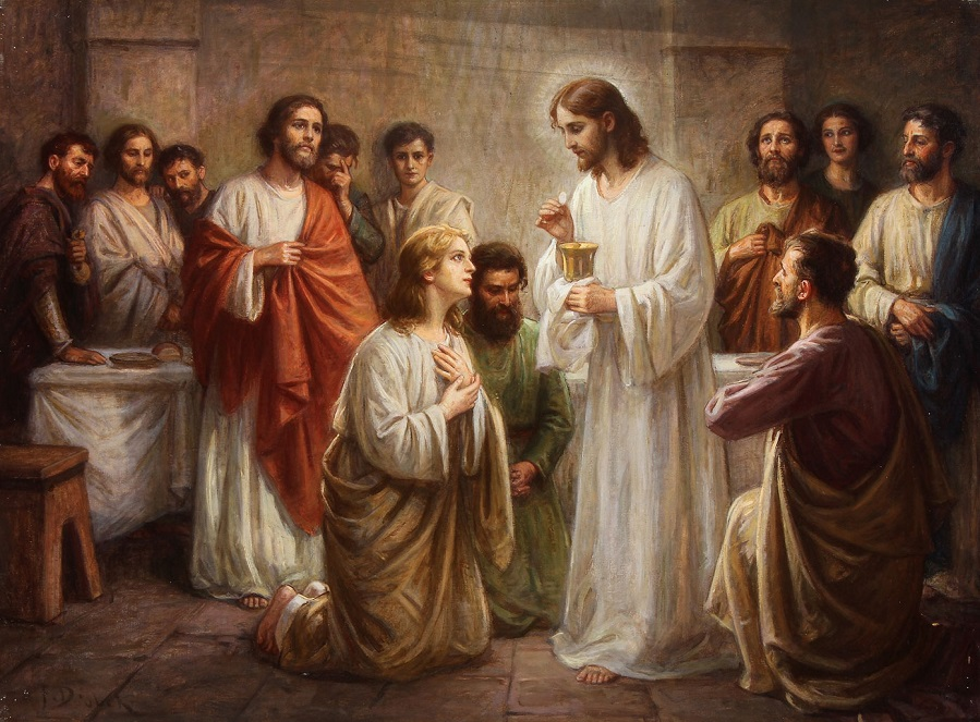 Christ Instituting Holy Communion.