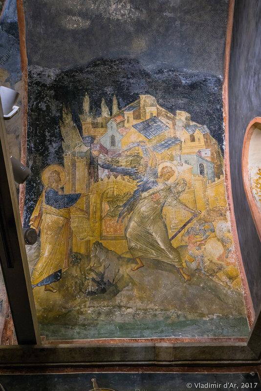 Заключенный. Мозаики и фрески монастыря Хора. Церковь Христа Спасителя в Полях.