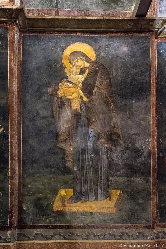 Богоматерь Элеуса. Мозаики и фрески монастыря Хора. Церковь Христа Спасителя в Полях.