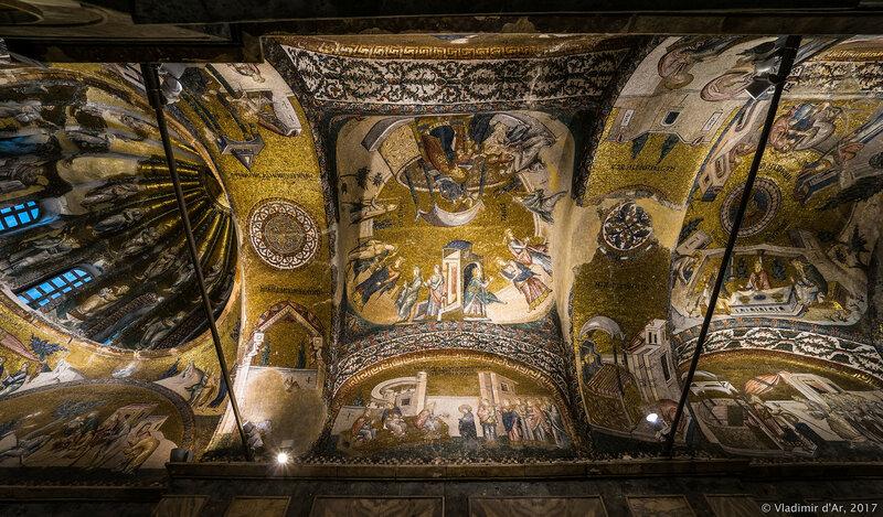 Мозаики и фрески монастыря Хора. Нартекс. Третий компартимент.