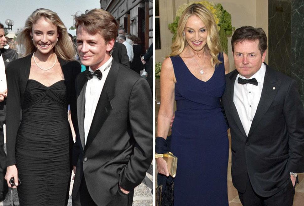Майкл Джей Фокс и Трейси Поллан, 28 лет вместе.