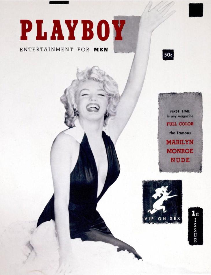 Для первого номера Playboy Хефнер приобрел фотографии полуобнаженной Мэрилин Монро с настенного кале