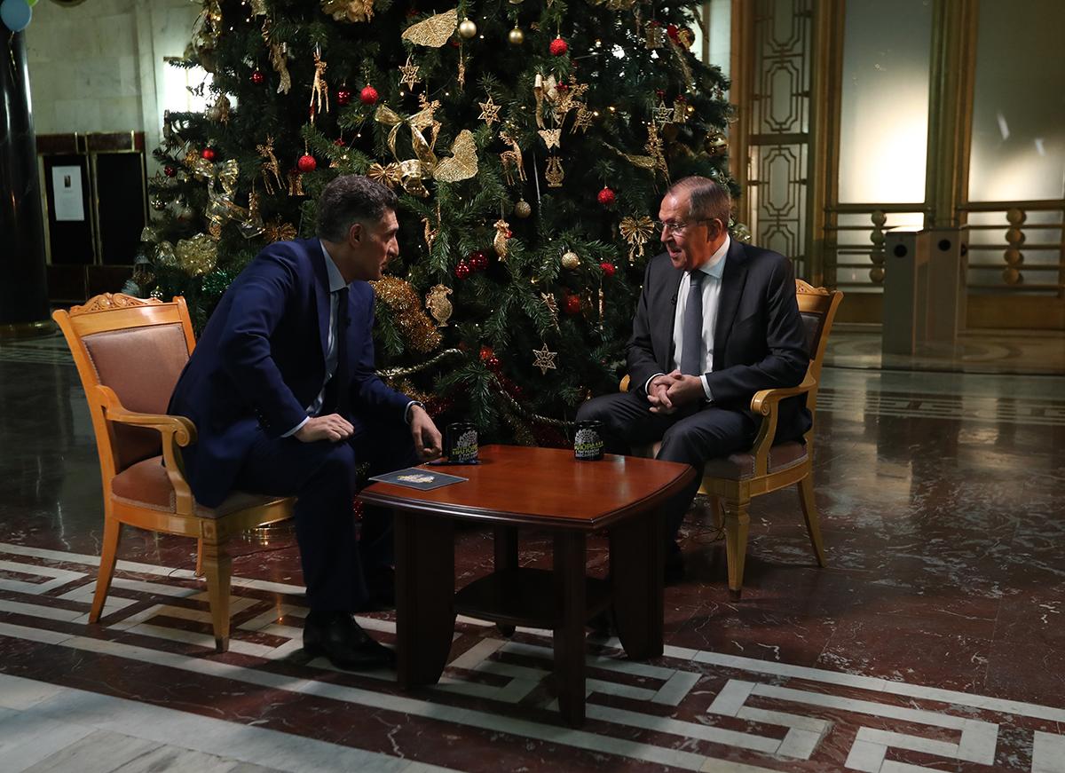 20171231_00-30-Интервью Министра иностранных дел России С.В.Лаврова программе «Международная пилорама» на телеканале НТВ, Москва, 30 декабря 2017 года