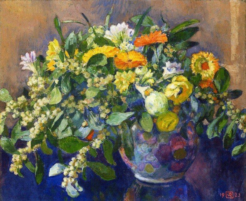 vase-of-flowers-1923.Theo van Rysselberghe.