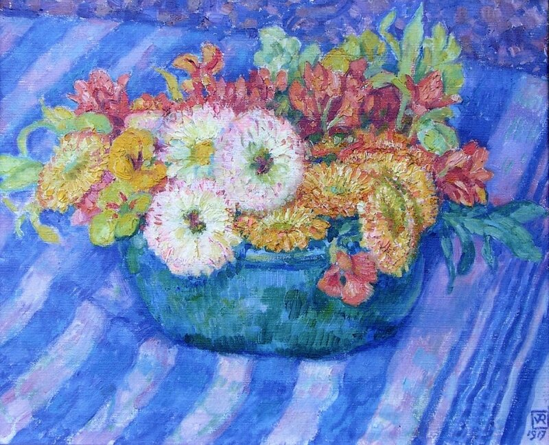 yellow-bouquet-1917.Theo van Rysselberghe.