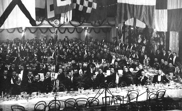 300-летний юбилей Архангельских лоцманов. Парадный обед в Коммерческом собрании 8 ноября 1913 года