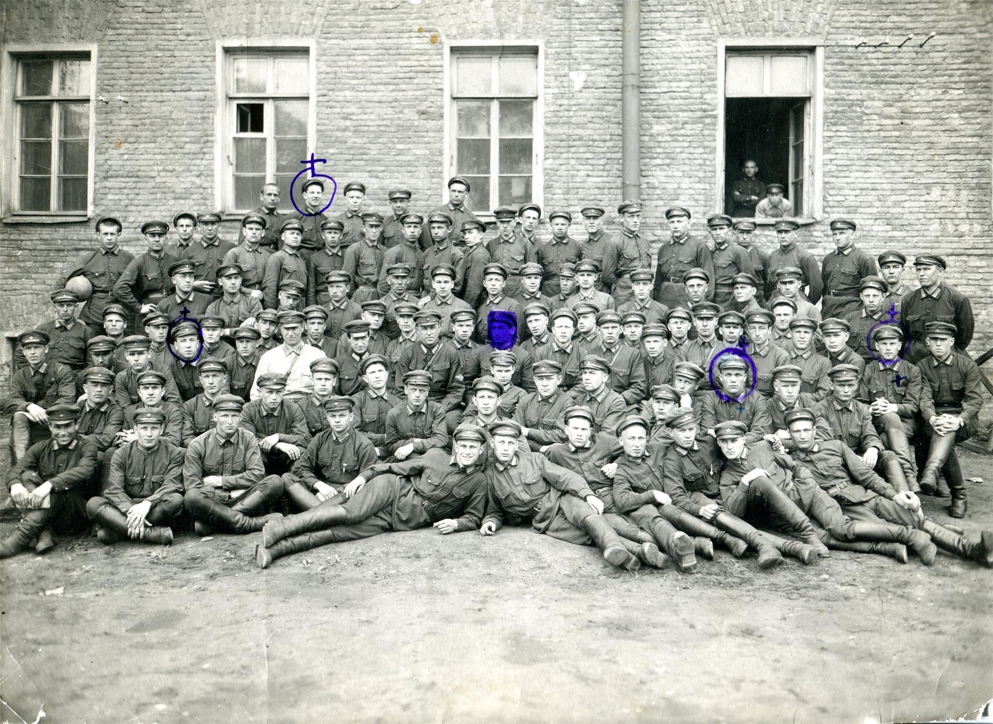 1931. Групповая фотография выпускников Борисоглебской ВШЛ