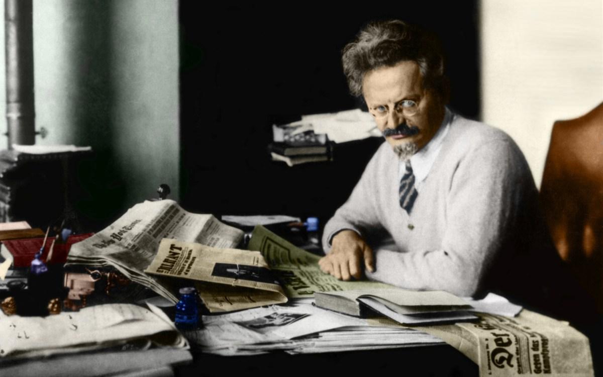 Trotsky In Study