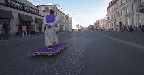 Ковер-самолет пролетел  по улицам Екатеринбурга