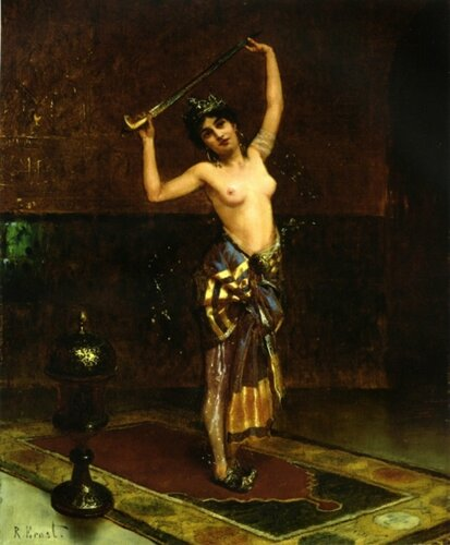 Rudolf Ernst (1854 – 1932, Austrian)  The Sword Dancer
