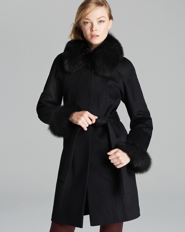 Модные аксессуары из меха в коллекциях зимних пальто осень-зима 2017-2018 (1 фото)