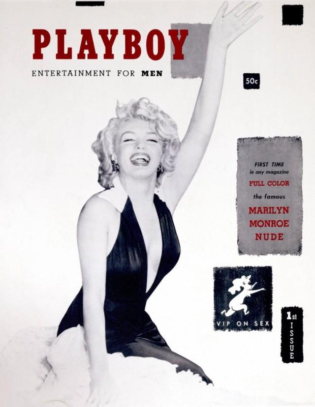 1953 год.    Мэрилин Монро была первой моделью на обложке Playboy. Всего на ее счету 22 обложки