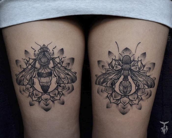 Татуировки, вдохновленные природой и стилем модерн от Boglarka Toth