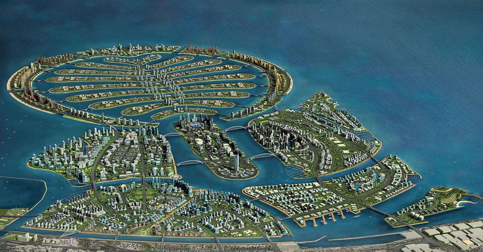 Интересно наблюдать за процессом строительства искусственного острова: