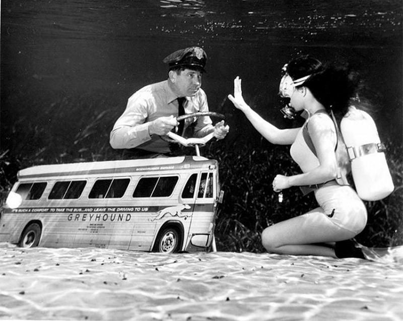 Фантастические ретрофотографии со дна озера