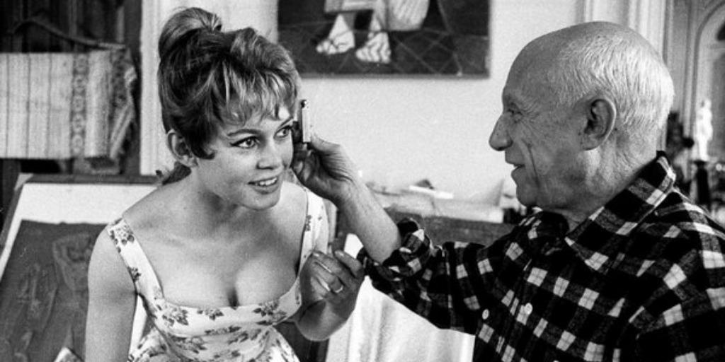 Два героя: Брижит Бардо и Пабло Пикассо (12 фото)