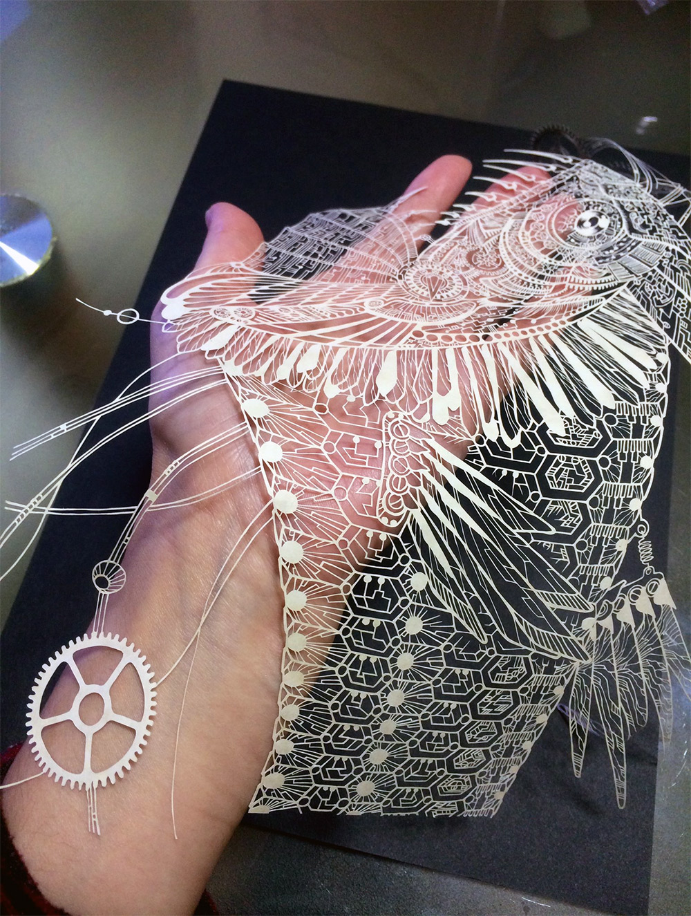Amazingly Fragile Cut Paper Artworks by 'Kiri Ken'