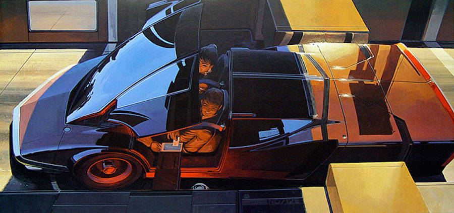 Retro-Futuristic Illustrations by Syd Mead