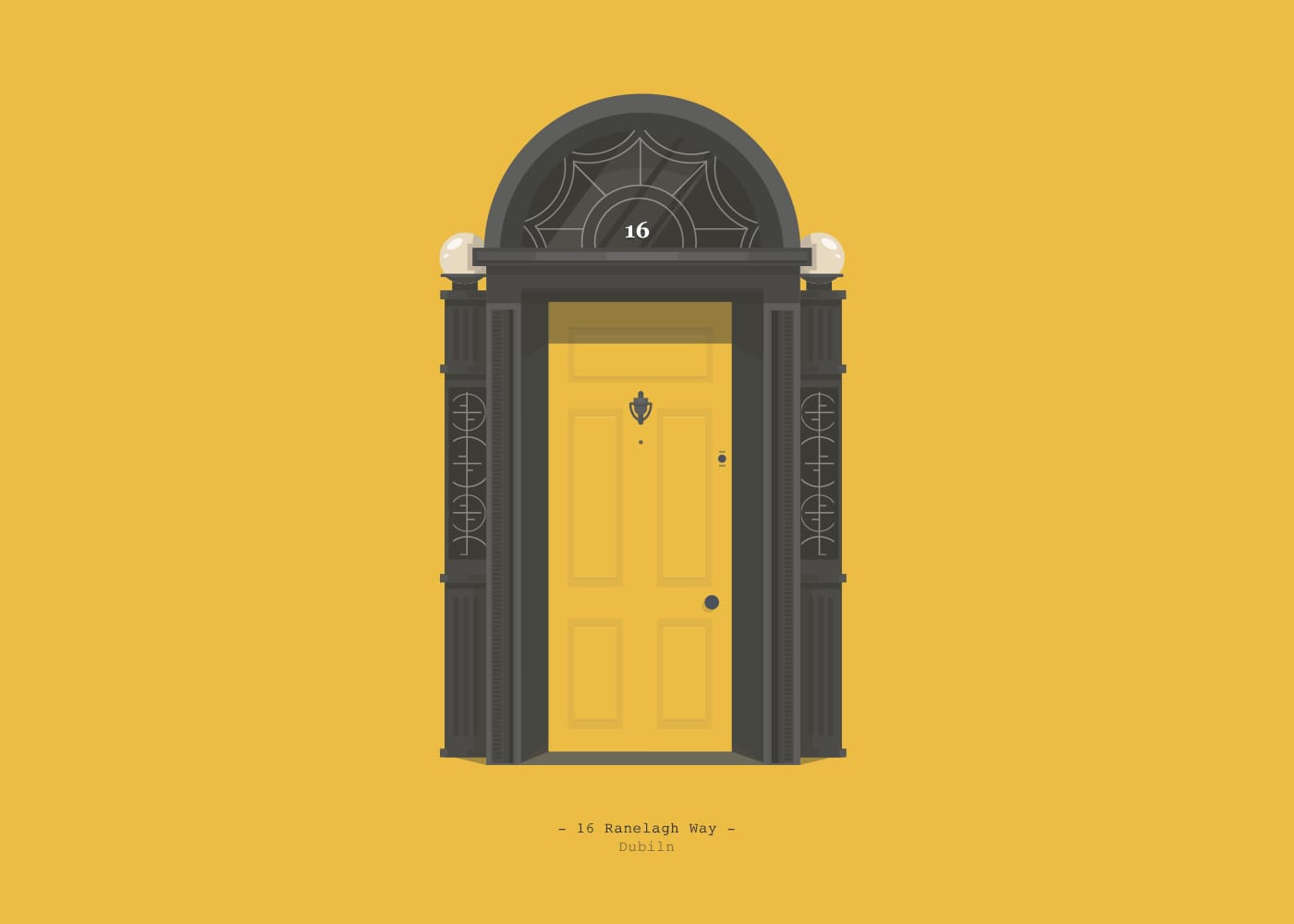 Colorful Doors of Dublin Illustrations