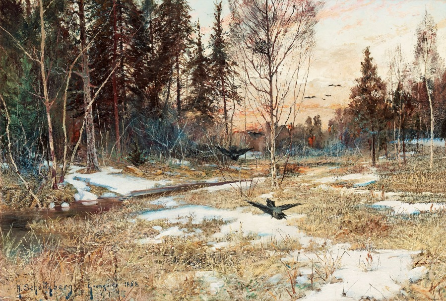 Spring landscape, Grangärde , 1888