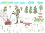 Глинкин Максим (рук. Сергеева Ирина Вячеславовна) - Береги лес от пожара!