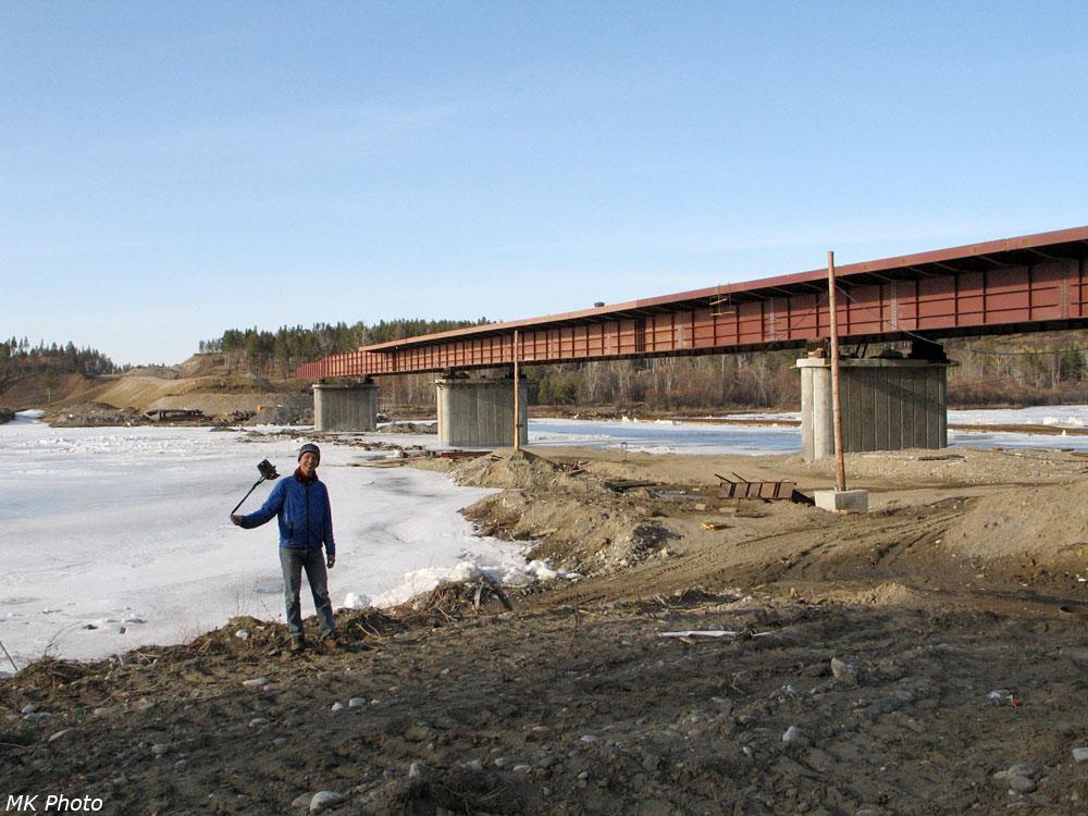 Строящийся мост через Иркут