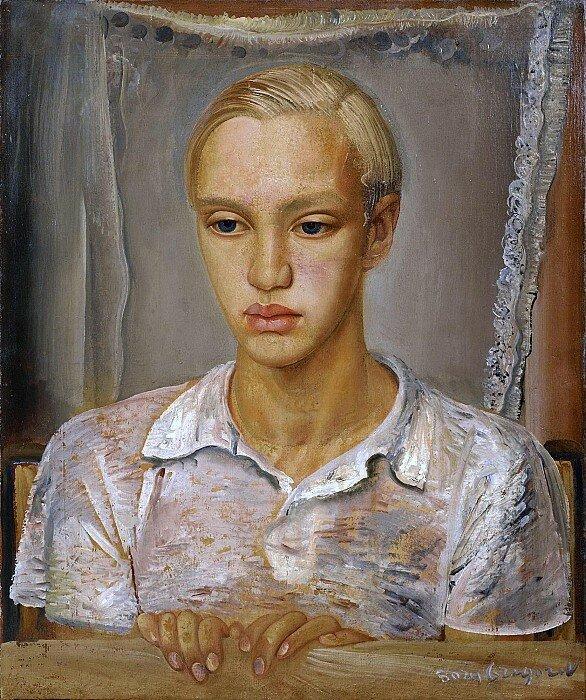 Борис Дмитриевич Григорьев – Портрет сына художника, Кирилл 60.5х50