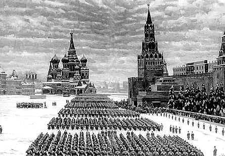 Вид Красной площади. Парад 1941 г