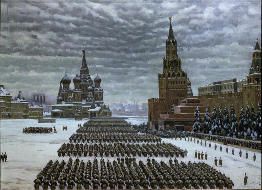 Красная площадь, парад 1941 года