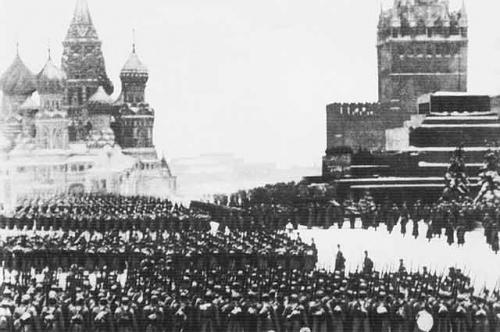 Москва. Красная площадь. Парад