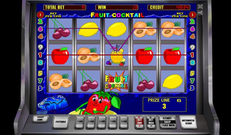 фруктовый коктейль слот основная игра