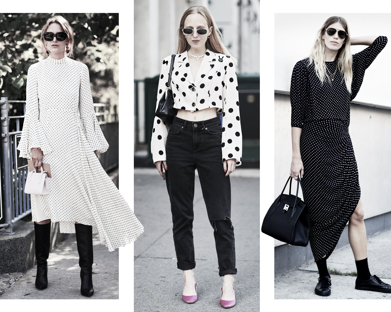 DISTRICT F - NEW YORK STREET STYLE SS18 polka dots trend
