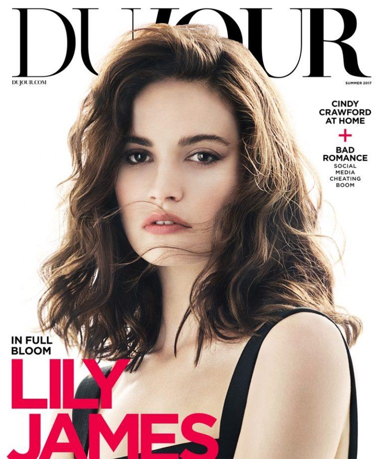 Лили Джеймс в DuJour Magazine (6 фото)