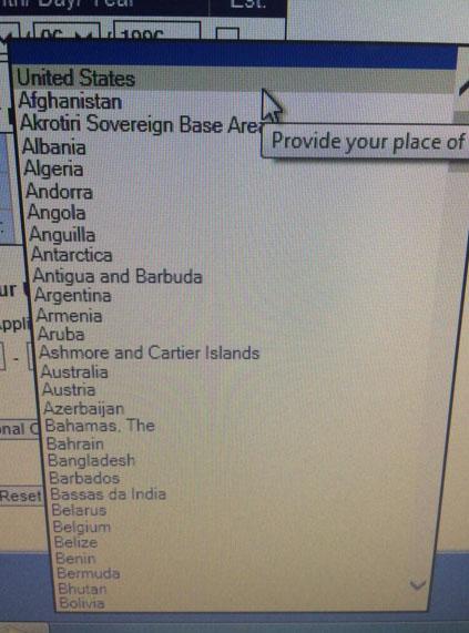 Алфавитный порядок. К черту остальные страны, подвиньтесь, США на первом месте.