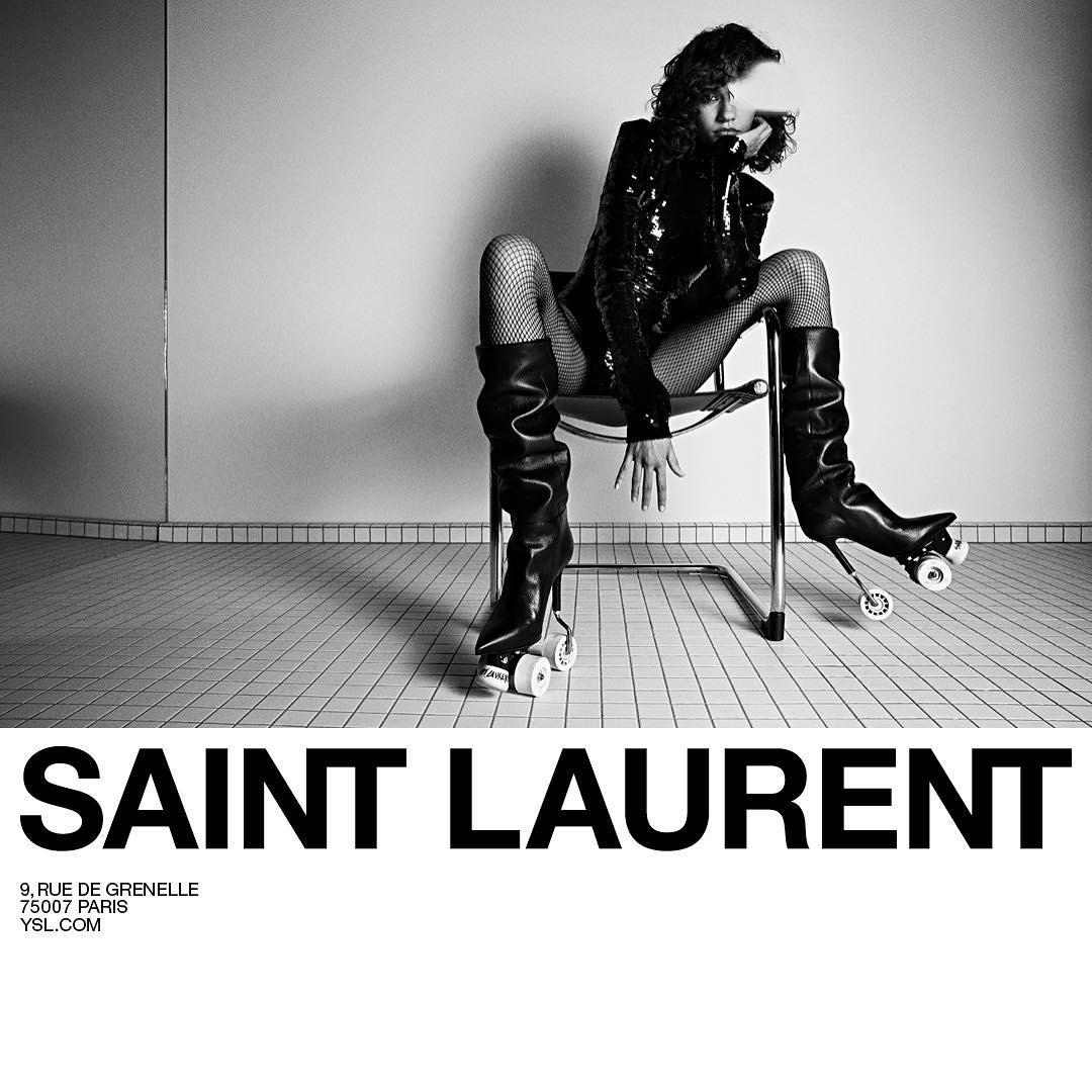 Шарики за ролики: Saint Laurent поставил модниц на колеса