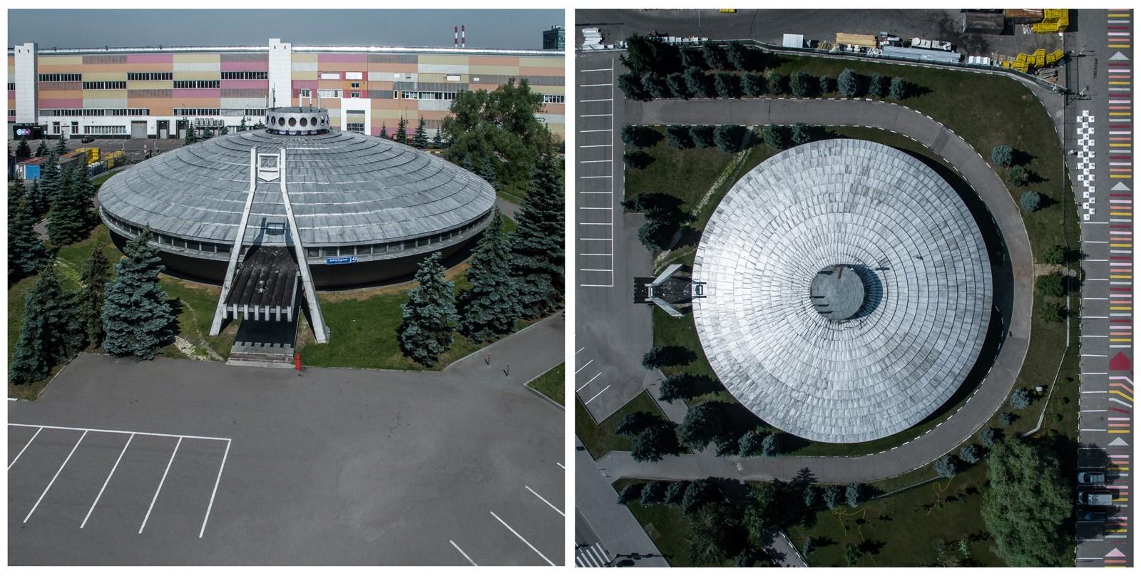 Строительство Музея Автомобильного завода имени Ленинского Комсомола по проекту архитектора Ю.А. Рег