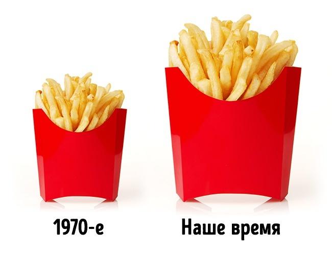 © IgorKlimov     Интересно, что запоследние 40лет стандартная порция картошки фри вырос